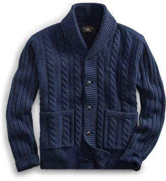 Ralph Lauren Cable-Rib Wool Cardigan