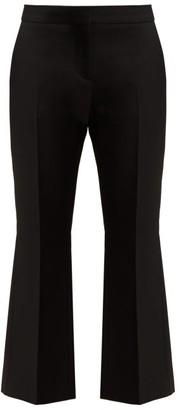 Alexander McQueen Kickback Cropped Wool Blend Trousers - Womens - Black