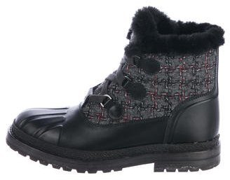 Chanel 2016 Combat Ankle Boots