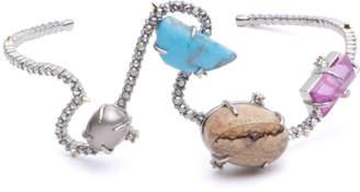 Alexis Bittar Crystal Maze Fancy Stone Cuff Bracelet