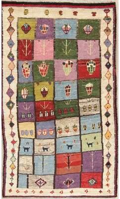 """Bloomsbury Market Seidman Persian Qashqai Rug Wool Handmade Oriental Modern Area Rug Clearance 5'10""""X3'6"""" Bloomsbury Market"""