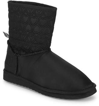 Love Moschino Women's Faux Fur-Lined Embroidered Booties