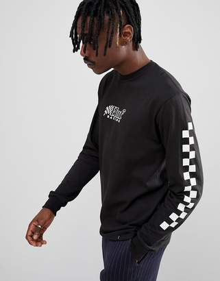 HUF racing long sleeve t-shirt in black