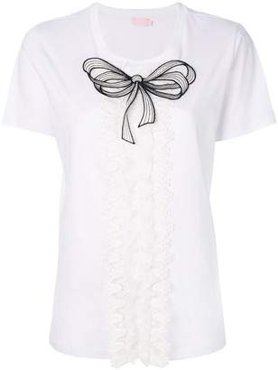 Giamba bow embroidered blouse