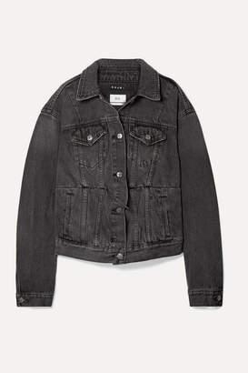 Ksubi Kendall Jenner Sideline Oversized Denim Jacket - Charcoal