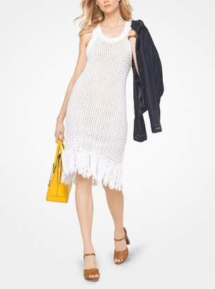 MICHAEL Michael Kors Fringed Cotton-Blend Knit Dress