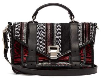 Proenza Schouler Ps1 Woven Cross Body Bag - Womens - Black White