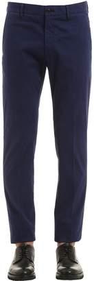 Ermenegildo Zegna 18cm Slim Stretch Cotton Gabardine Pants