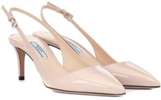 Prada Patent leather slingback pumps