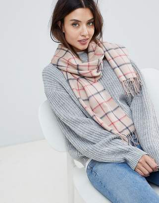 Barbour check lambswool scarf