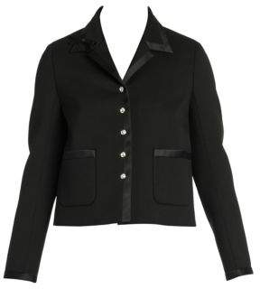 Miu Miu Stretch Virgin Wool Crystal Jacket
