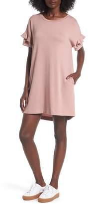 --- Ruffle Sleeve T-Shirt Dress