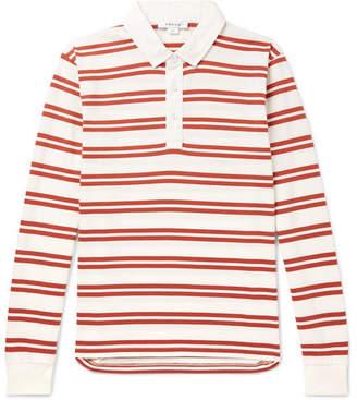 Frame Striped Cotton-Jersey Polo Shirt