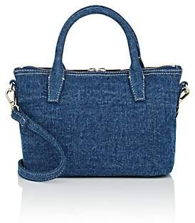 Barneys New York WOMEN'S MONICA MINI DENIM SATCHEL - BLUE