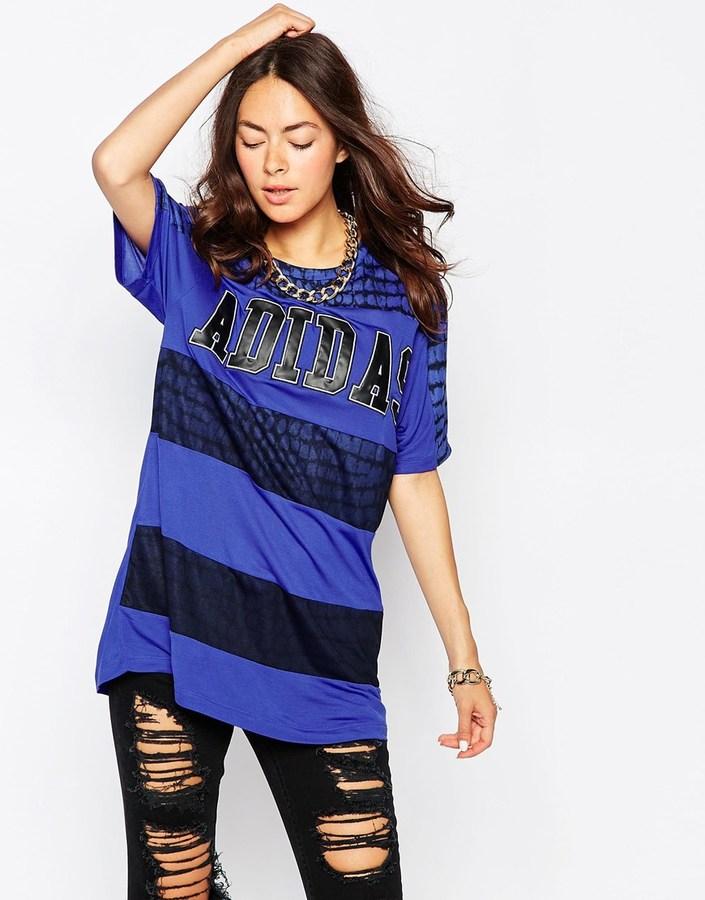 adidas NY Striped Long T-Shirt