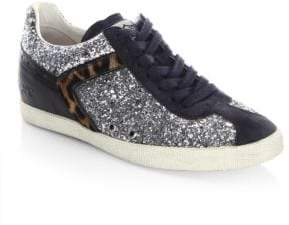 Ash Everest Glitter & Calf Hair Sneakers