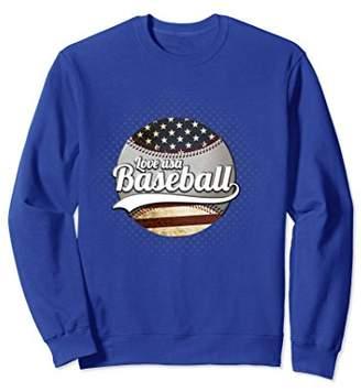 Sweatshirt Baseball Love Graphic Patriotic Design Premium
