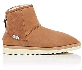 Suicoke Women's Sherpa-Lined Suede Ankle Boots - Brown