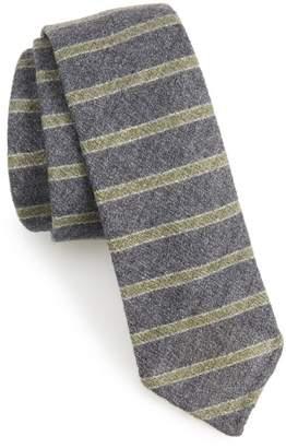 BOSS Horizontal Stripe Wool & Silk Skinny Tie