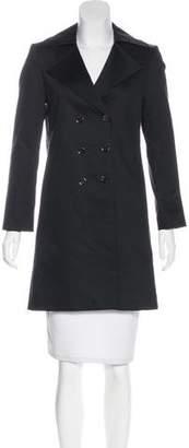 Tahari Double-Breasted Knee-Length Coat