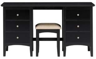 Marks and Spencer Hastings Dark Dressing Table & Stool Set