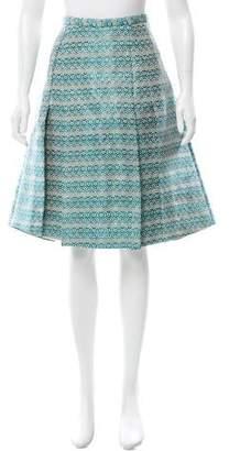 Christian Siriano Raffia Woven A-Line Skirt