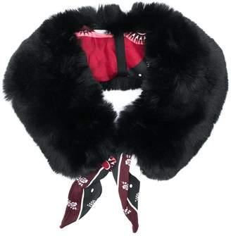 Pinko faux fur panel scarf