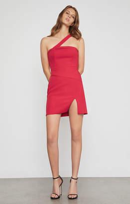 BCBGMAXAZRIA Dayne Asymmetrical Shoulder Dress
