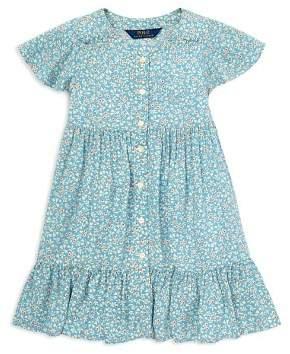 Ralph Lauren Girls' Shirred Floral Dress - Little Kid
