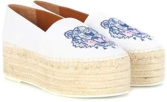 Kenzo Embroidered platform espadrilles