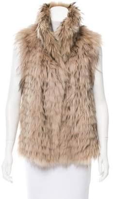 Yves Salomon Tailored Fur Vest