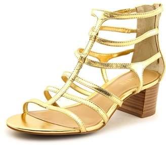 Lauren Ralph Lauren Madge Women Open Toe Leather Gold Sandals