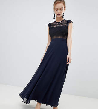 Asos Lace Maxi Dress with Lace Frill Sleeve
