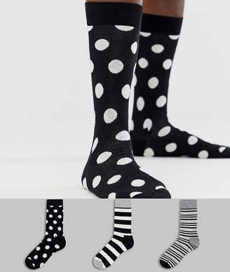Happy Socks HS by 3 pack big dot gift box
