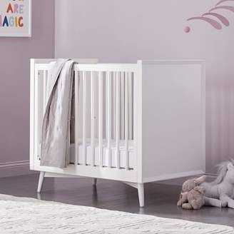 west elm Mid-Century Mini Crib + Mattress Set - White