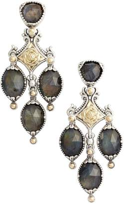 Konstantino Cassiopeia Triple Drop Chandelier Earrings