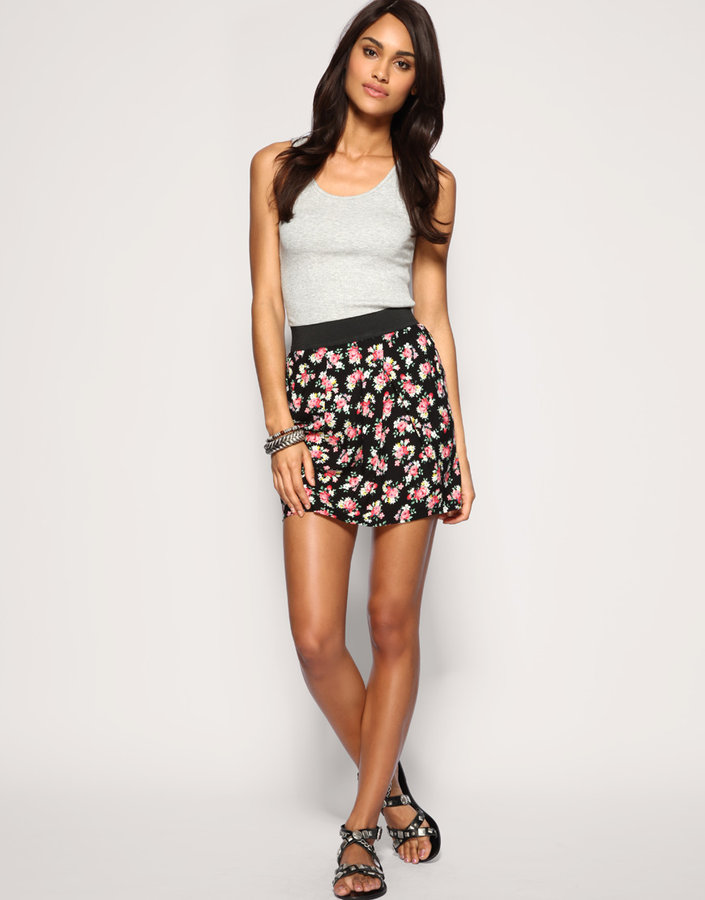 ASOS Tailored Floral Tulip Skirt