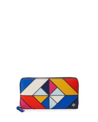 Tory Burch Tory Burch Diamond Stitch Continental Wallet, Multi