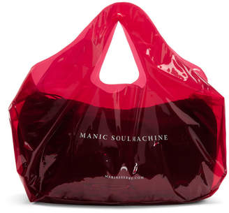 Marine Serre Red PVC Shopping Tote