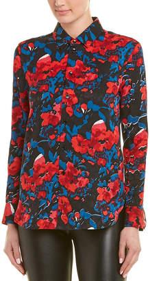 Saint Laurent Jacquard Floral Silk Shirt