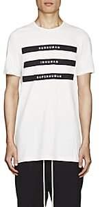 Rick Owens Men's Appliquéd Cotton Jersey T-Shirt - White
