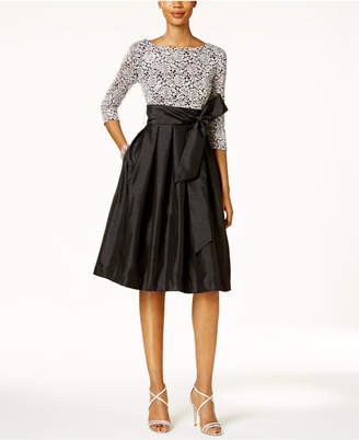 Jessica Howard Sequined Lace Taffeta Fit & Flare Dress $109 thestylecure.com