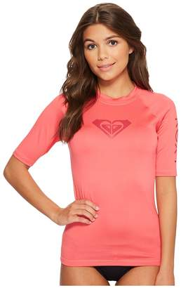 Roxy Whole Hearted Short Sleeve Rashguard Women's Swimwear
