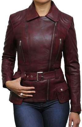 Brandslock Trench Ladies Mid Length Designer Real Leather Jacket Sale (18, )