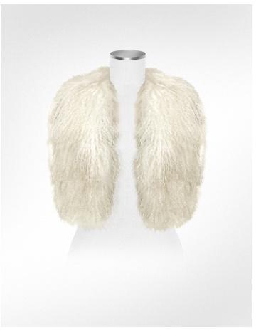 Forzieri White Mongolian Fur Vest
