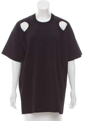 Celine Cutout-Accented Short Sleeve Top w/ Tags