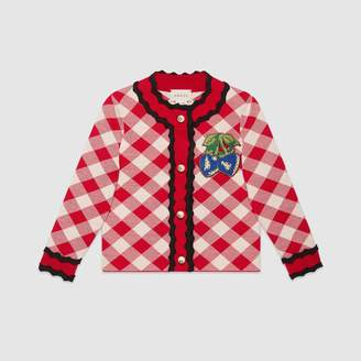 Gucci Children's cardigan with strawberry patch