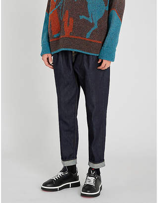 DSQUARED2 Pleated regular-fit tapered jeans