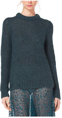 Michael Kors Sequined Mohair And Silk Sweater