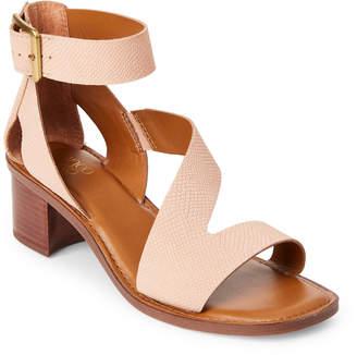Franco Sarto Peach Lorelia Block Heel Sandals